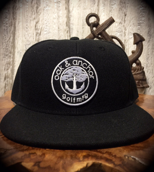 Oak&Anchor Snappy Time Black Roundy Golf Hat