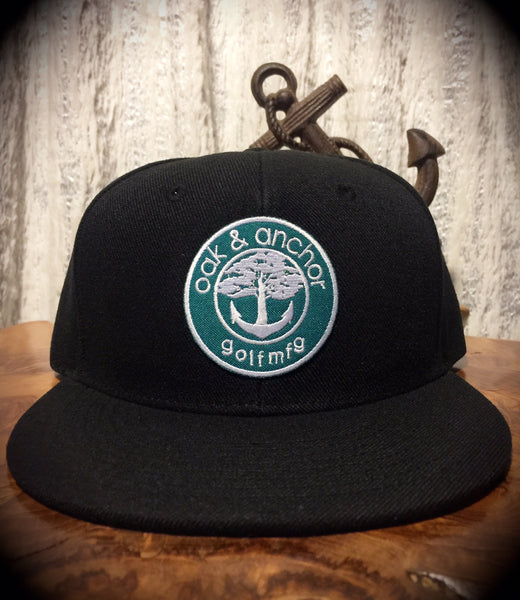 Oak&Anchor Snappy Time Green Label Black Golf Hat