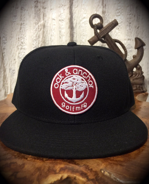 Oak&Anchor Snappy Time Red Label Black Roundy Golf Hat