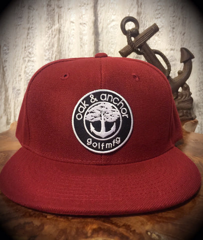 Oak&Anchor Snappy Time Maroon Roundy Golf Hat