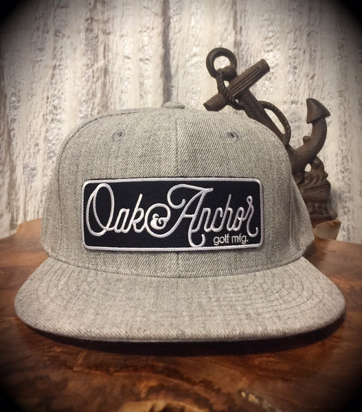 Oak&Anchor Snappy Time Heather Grey Big Bar Golf Hat