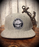 Oak&Anchor Snappy Time Heather Grey Roundy Golf Hat