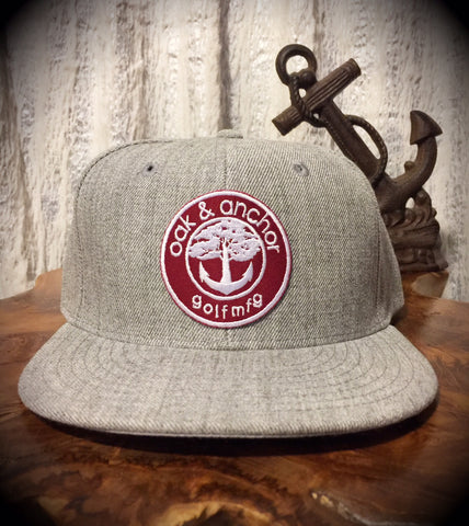 Oak&Anchor Snappy Time Red Label Heather Grey Roundy Golf Hat