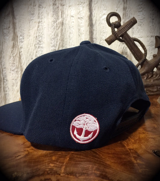 Oak&Anchor Snappy Time Red Label Navy Blue Big Bar Golf Hat