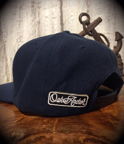Oak&Anchor Snappy Time Navy Blue Roundy Golf Hat