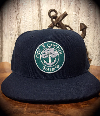 Oak&Anchor Snappy Time Green Label Navy Blue Roundy Golf Hat