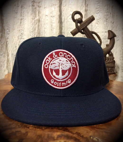 Oak&Anchor Snappy Time Red Label Navy Blue Roundy Golf Hat