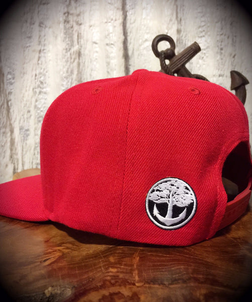Oak&Anchor Snappy Time Red Big Bar Golf Hat