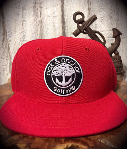 Oak&Anchor Snappy Time Red Roundy Golf Hat