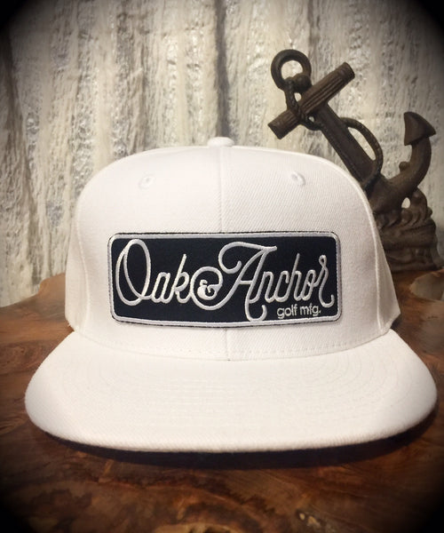 Oak&Anchor Snappy Time White Big Bar Golf Hat