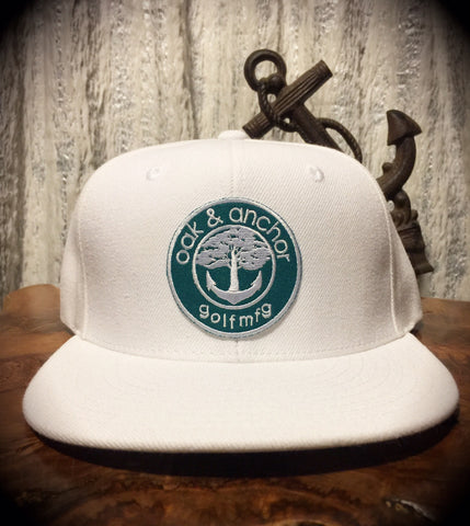 Oak&Anchor Snappy Time Green Label White Roundy Golf Hat