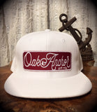 Oak&Anchor Snappy Time Red Label White Big Bar Golf Hat