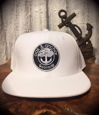 Oak&Anchor Snappy Time White Roundy Golf Hat