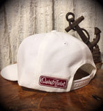 Oak&Anchor Snappy Time Red Label White Roundy Golf Hat