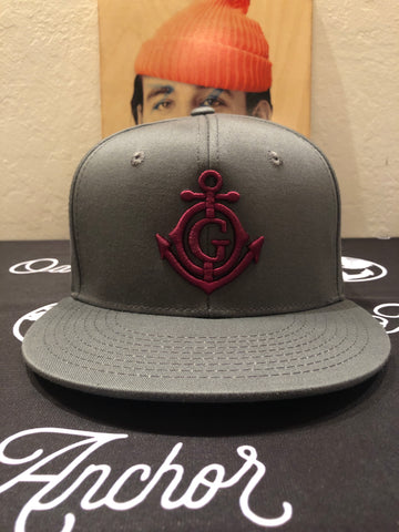 The Shipmate Dark Grey/Crimson