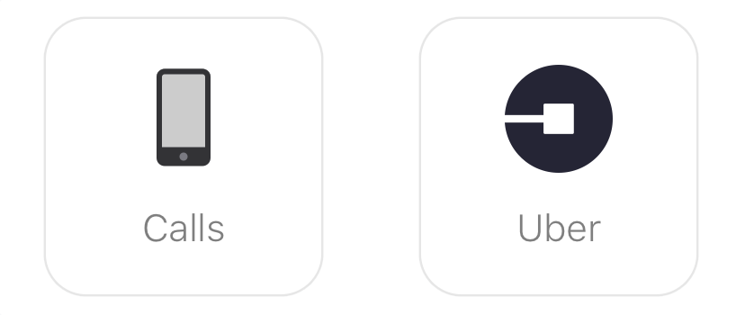 Glance Clock - Calls and UBER