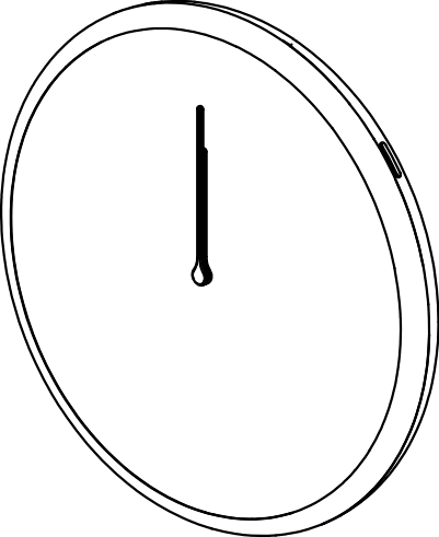 Glance Clock wireframe