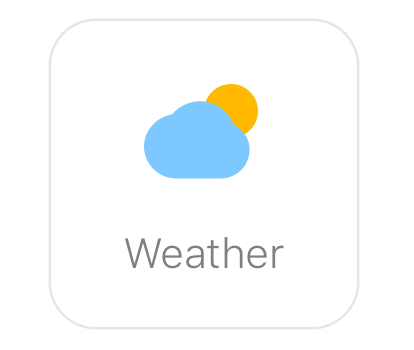 Glance clock weather app