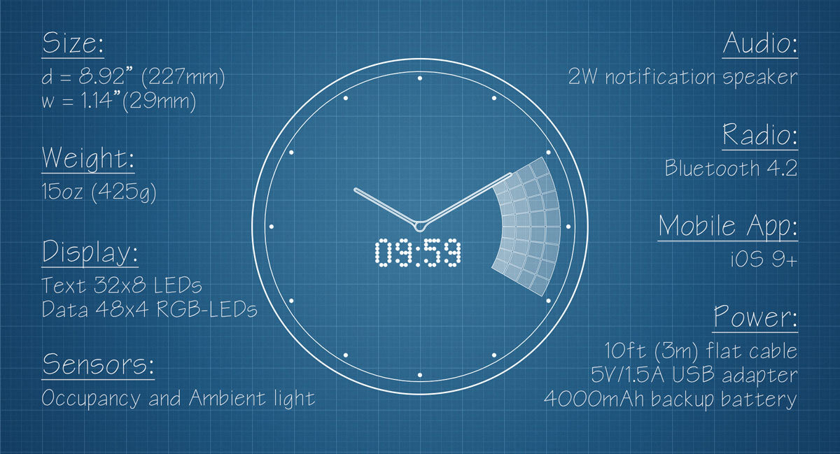 Glance Clock Tech Specs