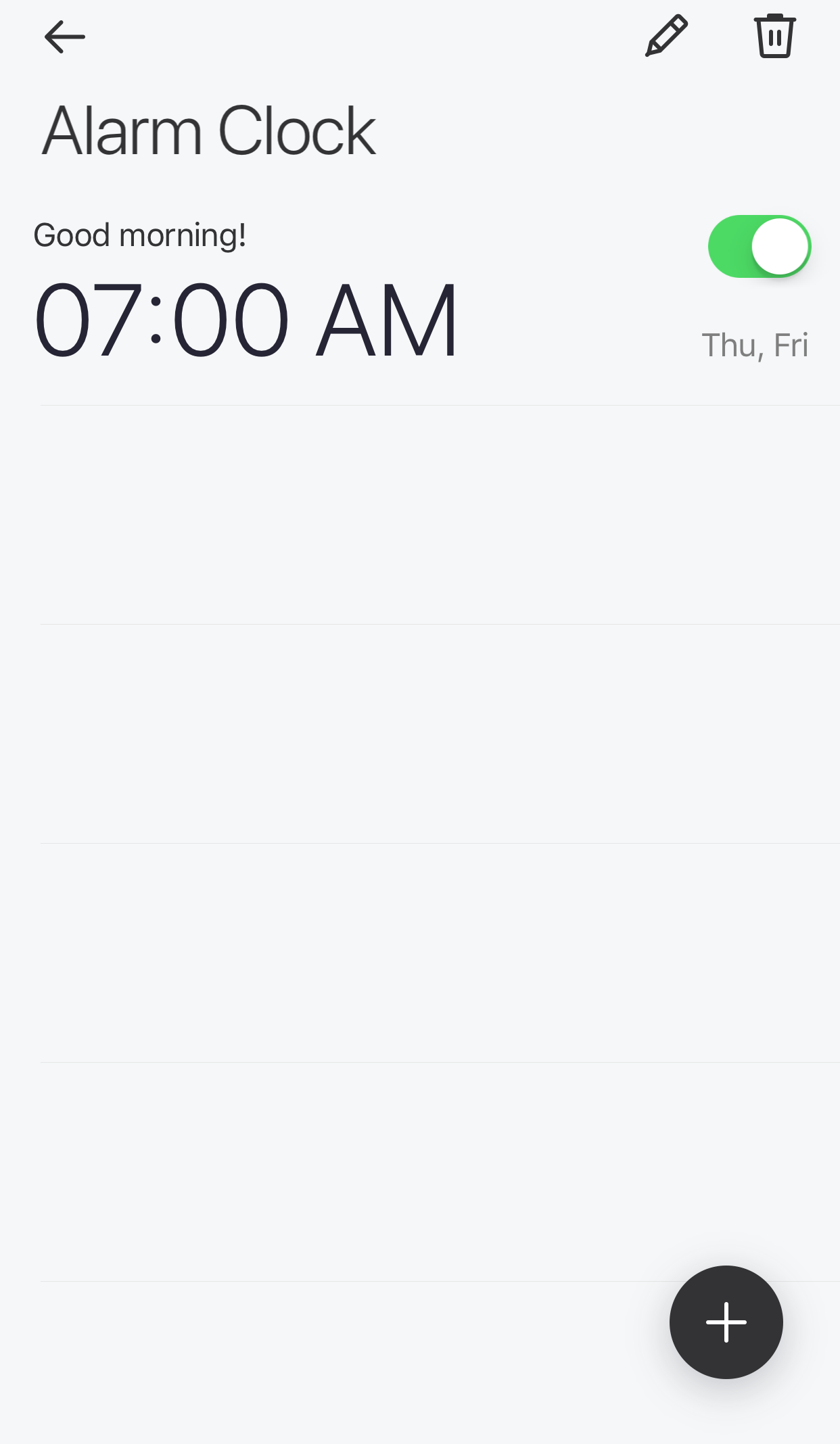 Glance App - Alarm Clock - Manage alarms