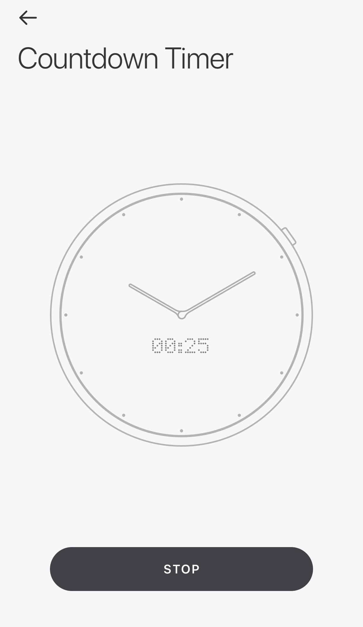 Glance App - Countdown Timer - Countdown