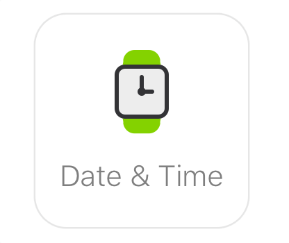 Glance clock - date and time app