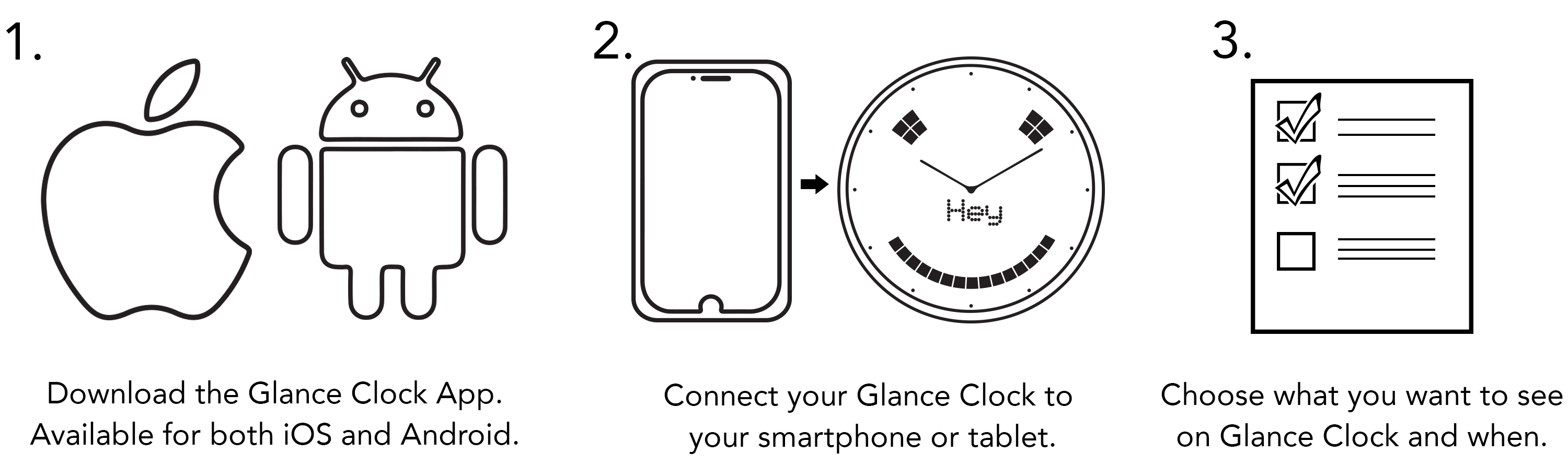 Glance Clock App for iOS and Android