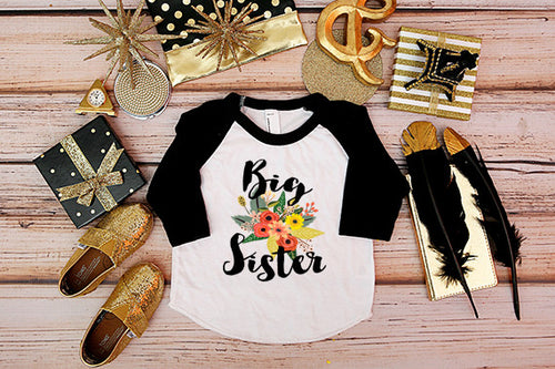 Big Sister Flower Bouquet Shirt