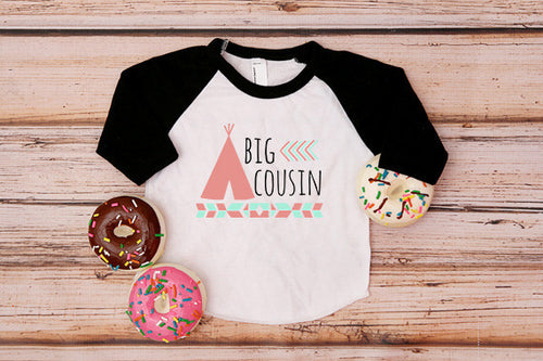Big Cousin Floral Heart Shirt