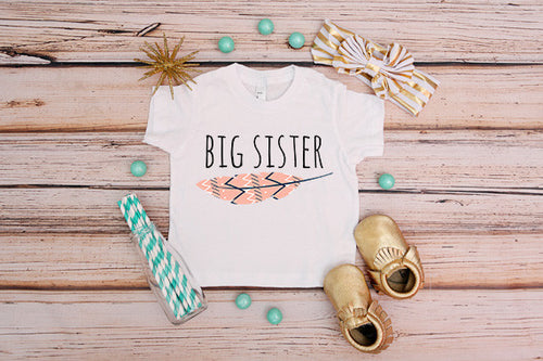 Big Sister Feather Shirt