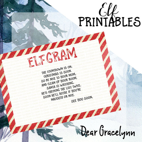 ElfGram Elf Is Coming Soon 5x7 Printable