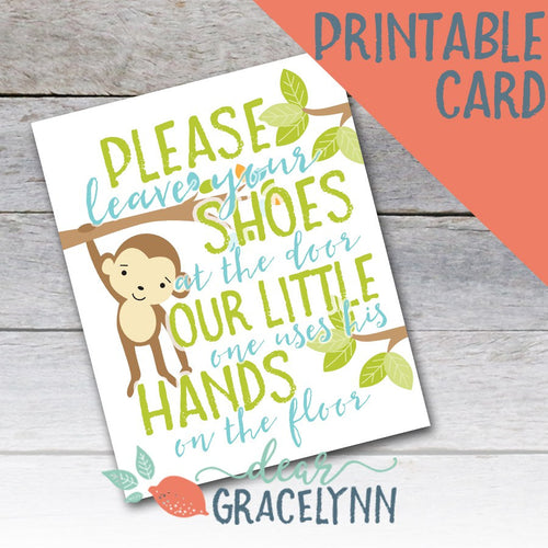 Please Leave Your Shoes At The Door - Boy Printable