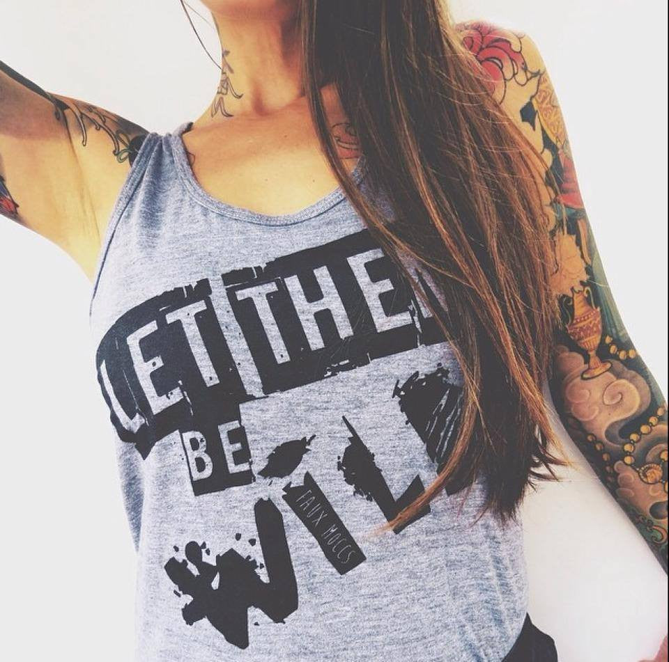 Let Them Be Wild Tank - Grey