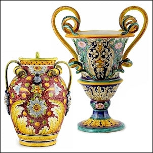 Tuscan jar and potiches