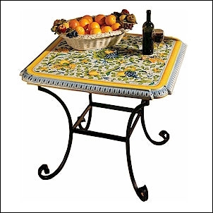 ceramic table - stone lava hand painted table