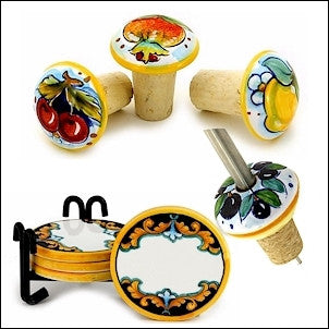 wine stoppers coasters