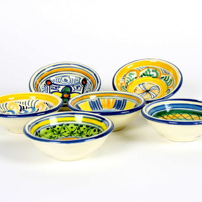 TOSCANA: Olive Oil Dipping Condiment Bowls (Set of Six)