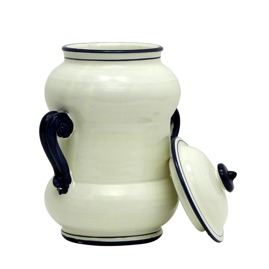 BIANCO MARINA: Double Handled Canister Medium