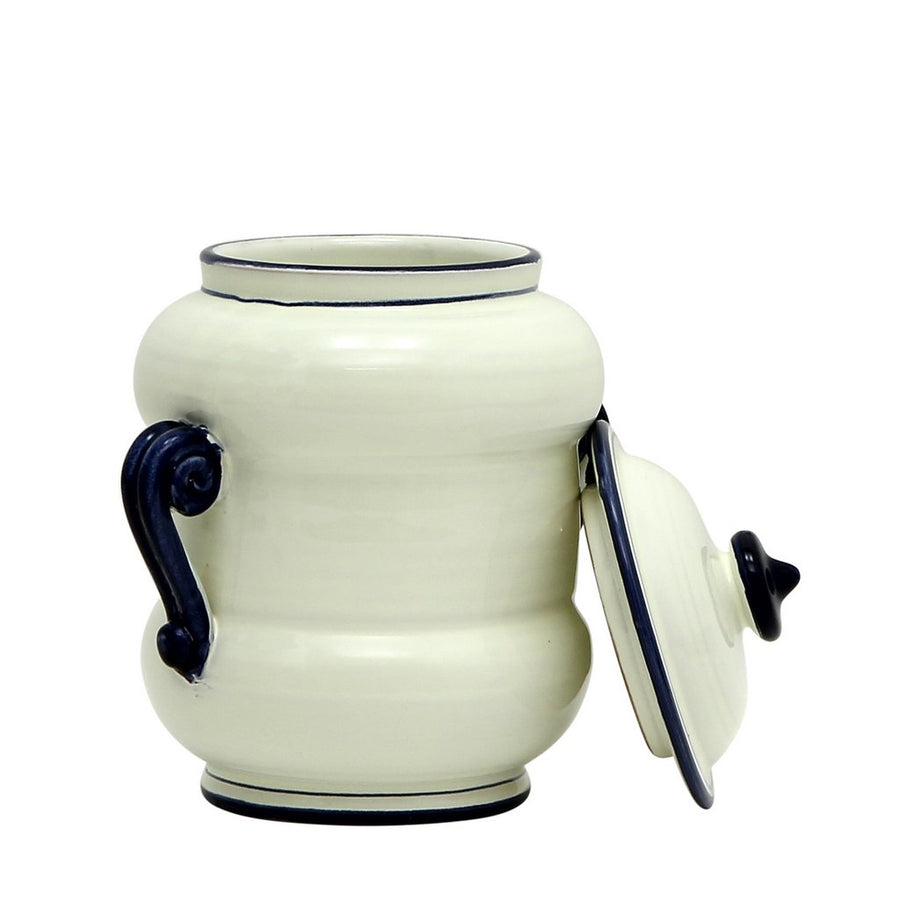 BIANCO MARINA: Double Handled Canister Large
