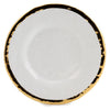 AUSONIA BORDO ORO: Dinner Plate White with Gold rim