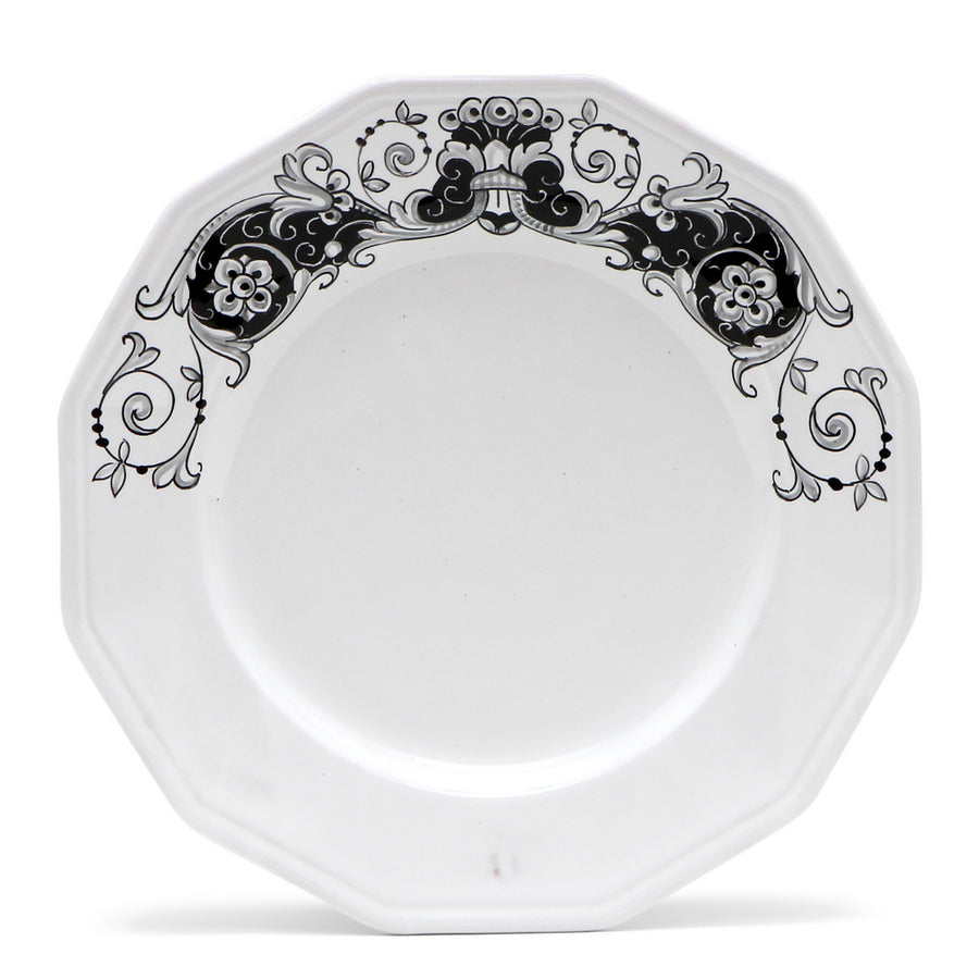 DERUTA BIANCO/NERO: Four pieces place setting set
