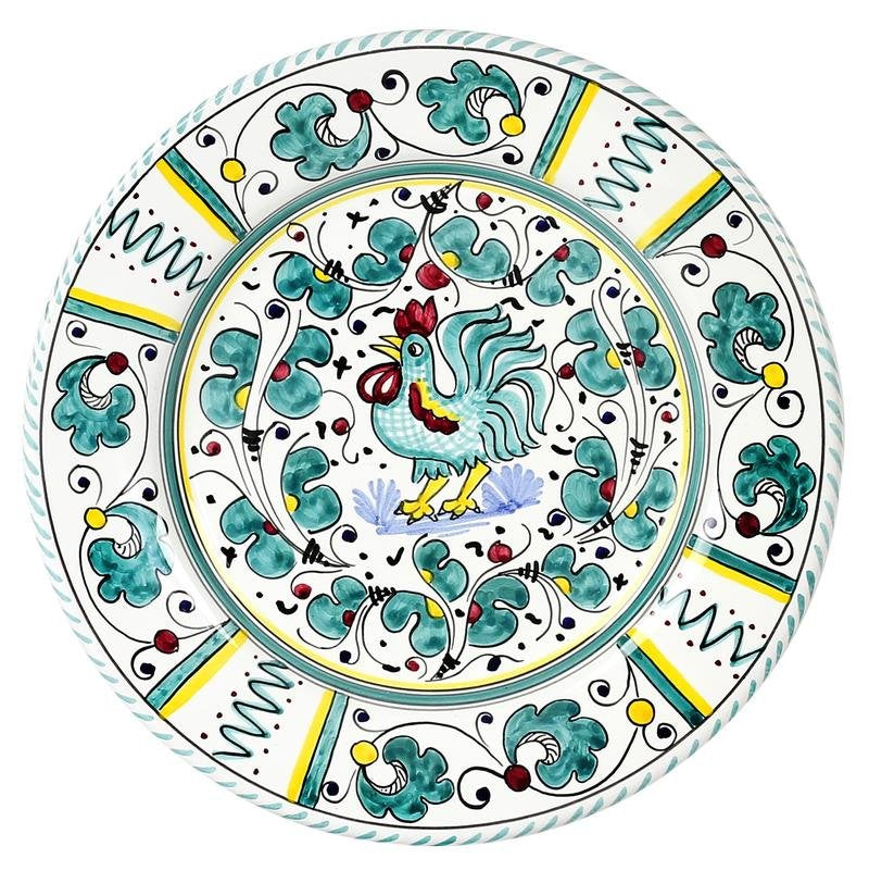 ORVIETO GREEN ROOSTER: 5 Pieces Place Setting