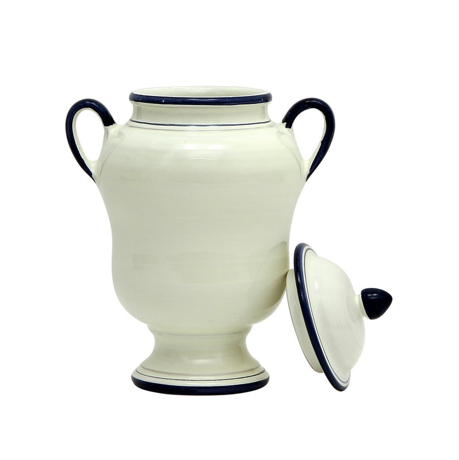 BIANCO MARINA: Double Handled Shaped Canister Medium