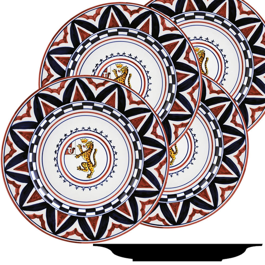 PALIO DI SIENA: PANTERA (Panther) Dinner Plate SET of four (11D)