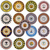 PALIO DI SIENA: Set of all Seventeen Contradas Salad Plates