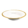 AUSONIA BORDO ORO: Pasta Soup rim bowl White with Gold rim