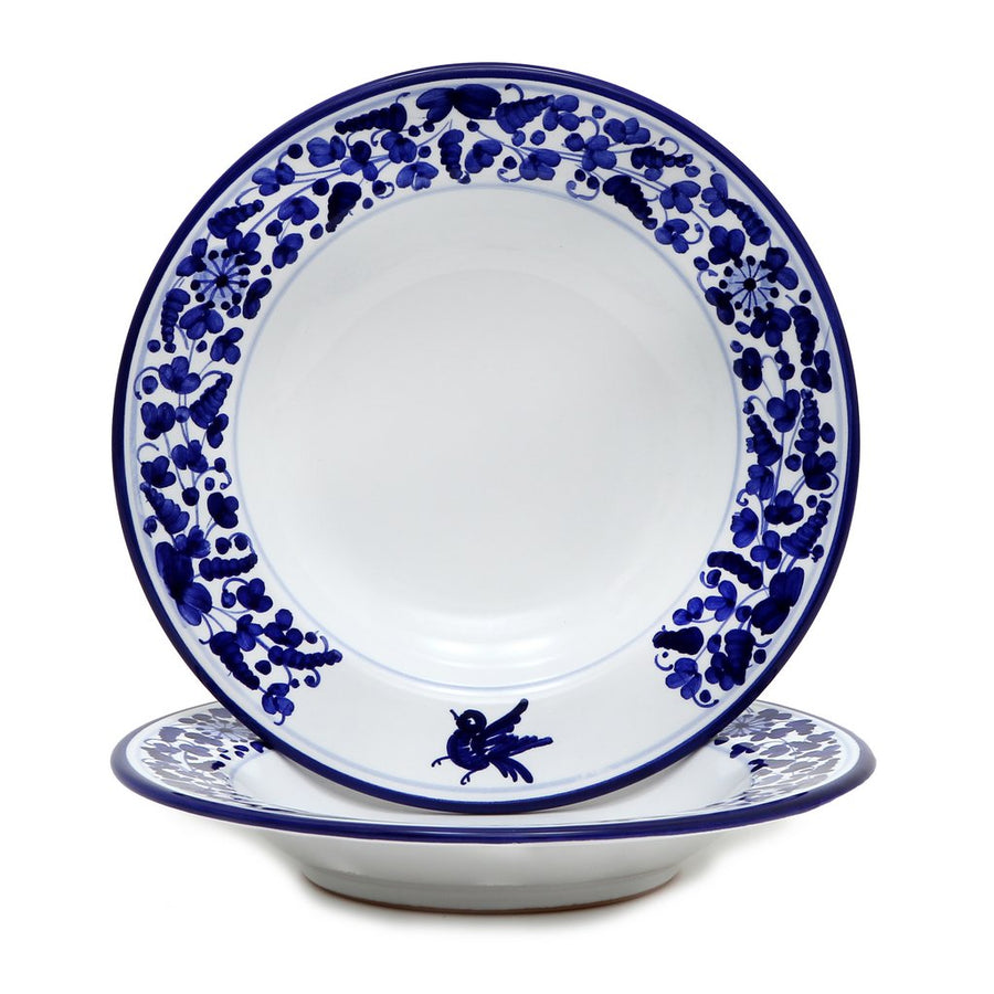 ARABESCO BLU: Pasta-Soup Rim Bowl