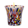 ITALIAN GLASS: Murano Style Flared Candle Purple Mix