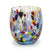 MURANO MURRINA STYLE: Stemless Wine/Water Glass fully hand made (Turquoise Mix)