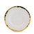 AUSONIA BORDO ORO: Salad Plate White with Gold rim